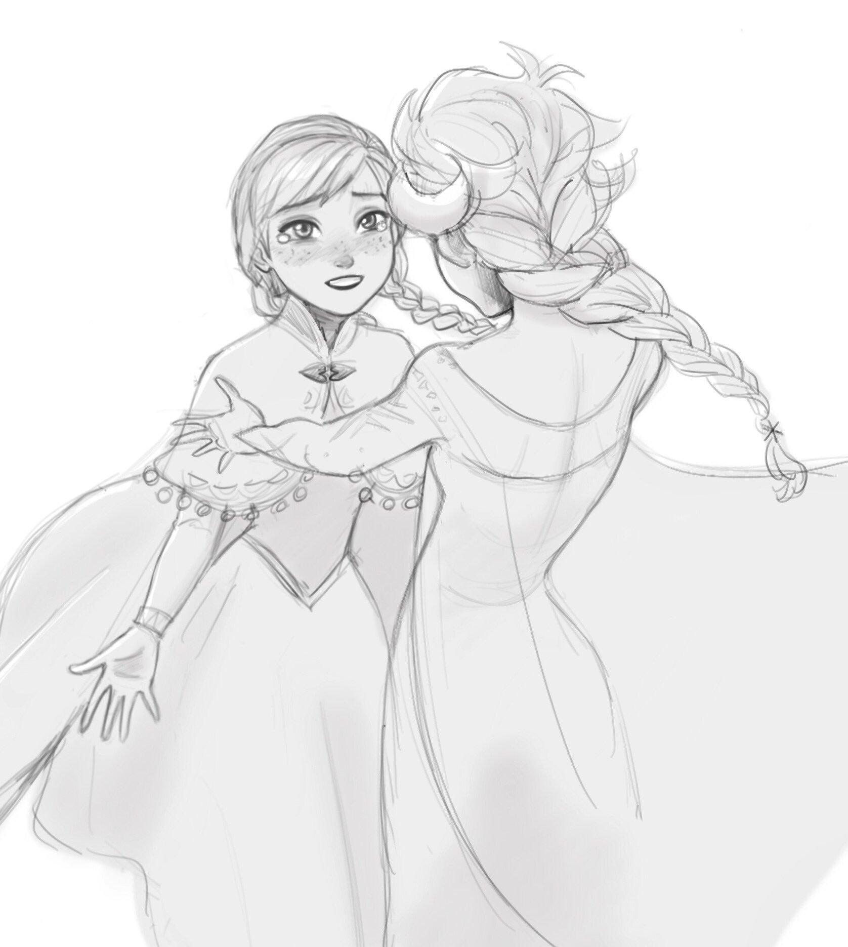 Анна из холодного сердца картинки как рисовать