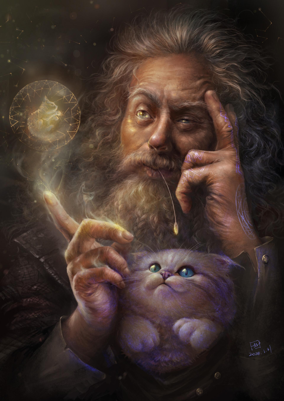 Кот волшебник картинка
