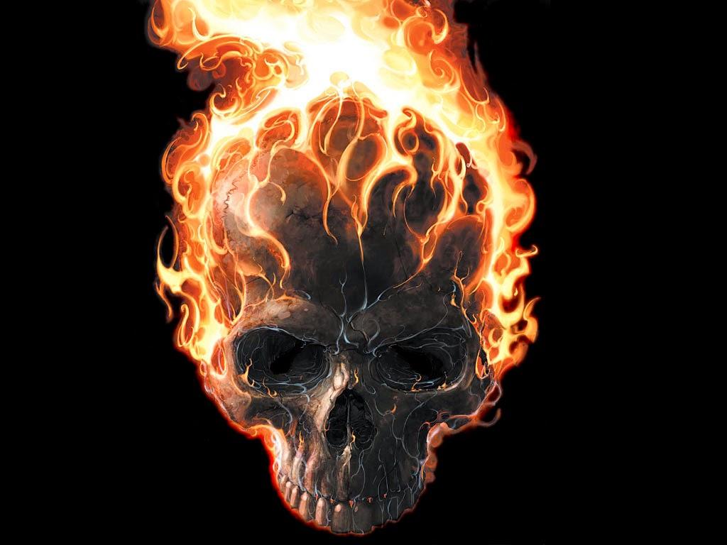 первый картинки черепов в огне с костями фактурой